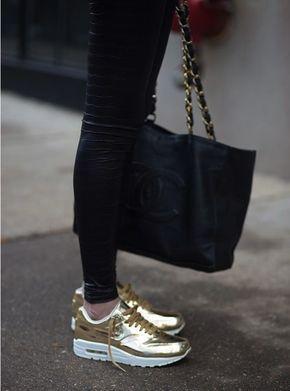 zapatillas doradas mujer nike