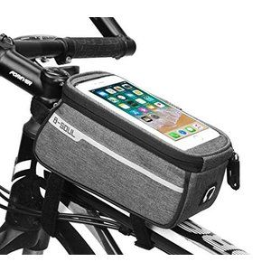 """Bike Bicycle Waterproof 6/"""" Touch Screen Front Handlebar Bag Phone Pouch Holder"""