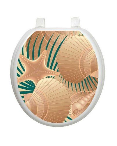 At The Beach Toilet Tattoo Tt 1600 R Round Ocean Theme Cover Bathroom Click Image To Read More Details Toilet Covers Dog Toilet Toilet Seat