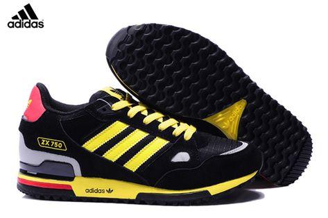 new concept 19488 b29da Men s Women s Adidas Originals ZX 750 Shoes Black Yellow White Red,Adidas-ZX  Shoes Sale Online