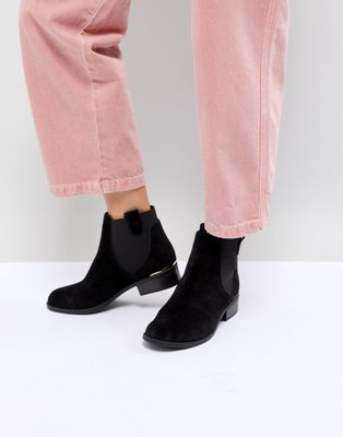 New Look Metal Insert Flat Ankle Boot