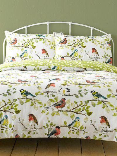 Birds Brushed Cotton Duvet Set Homeware Duvet Sets M Co Duvet Sets Cotton Duvet Duvet
