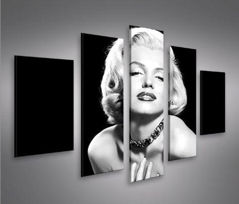 Marilyn Monroe V6-5 5 Quadri moderni su tela - pronti da appendere ...