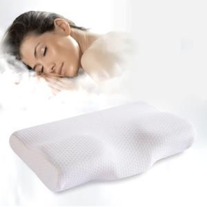 White Healthcare Memory Foam Ergonomic Pillow Core Relieve Pain Butterfly-shaped
