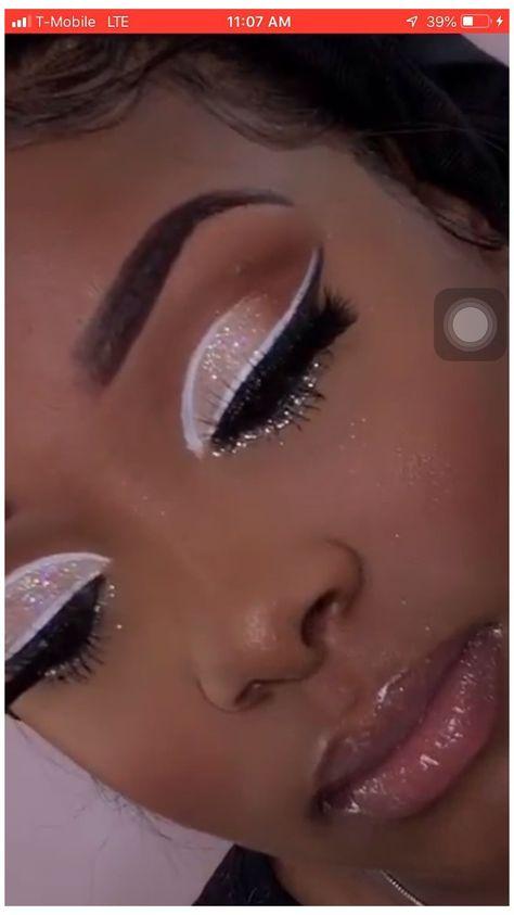 Glitter Makeup Looks, Makeup Eye Looks, Creative Makeup Looks, Cute Makeup, Pretty Makeup, Stunning Makeup, Easy Makeup, Flawless Makeup, Simple Makeup
