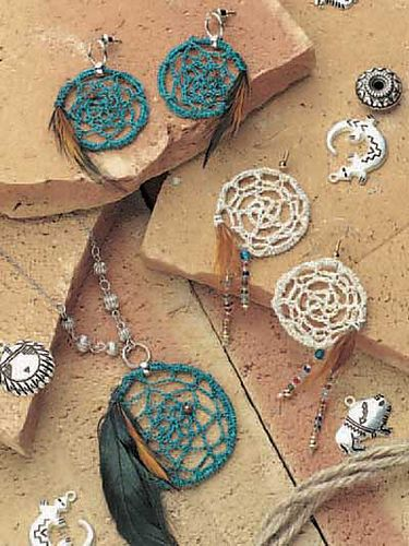 Ravelry: Dream Catcher Jewelry pattern by Claire Stringer