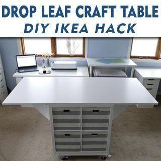 Drop Leaf Craft Table Craft Room Tracy Lynn Crafts Craft Table Craft Tables With Storage Craft Room Tables