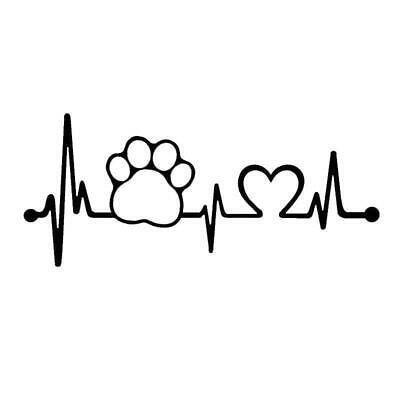 Paw Love Dog Cat Heart Vinyl Decal Sticker Window Wall Bumper Car Truck SL