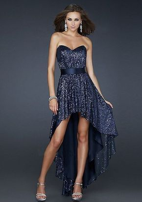 rebajas outlet seleccione para oficial envio GRATIS a todo el mundo Vestidos Cortos de Adelante y Largos de Atras. Color azul ...