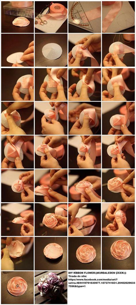 ribbon flower tutorial..