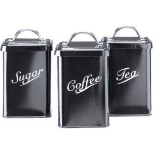 Buy Kentucky Black Metal Vintage Tea Coffee And Sugar