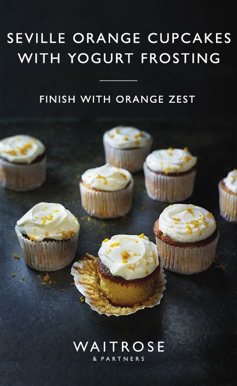 Get ready for Valentines Day with our Seville orange cupcakes with yogurt frosting. Top with Cooks' Ingredients rose petals and Cooks' Ingredients raspberry dust for an added romantic finish.  Click on the image for the full Waitrose  Partners recipe.