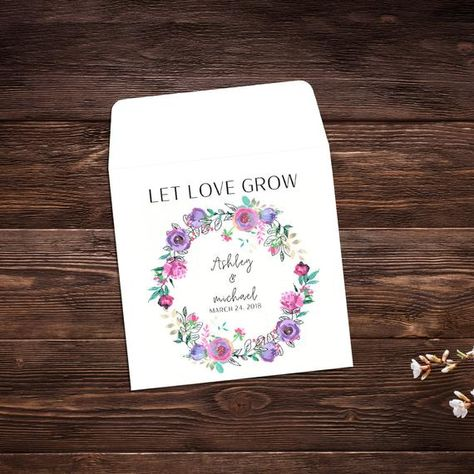 Let Love Grow Favors, 25 Seed Packet Favors, #seedpackets #seedfavors #weddingfavors #weddingseedfavor #weddingseedpackets #seedpacket #weddingfavor #seedfavor #seedpacketenvelope #seedpacketfavor #summerwedding #flowerseeds
