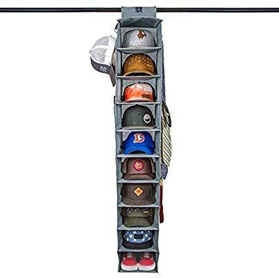 Amazon Com Dash Home Ultimate Hat Rack 10 Shelf Hanging Closet Hat Organizer For Hat Storage Keep Your Caps And Basebal Hat Storage Cap Organizer Hat Holder