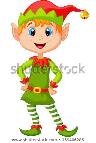 Lutin Noel cute and happy looking Christmas elf   Lutin noel dessin, Elfe de