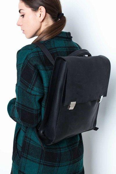 Black leather backpack,Black laptop bag,Black leather bag,Black leather handbag,Shoulder bag