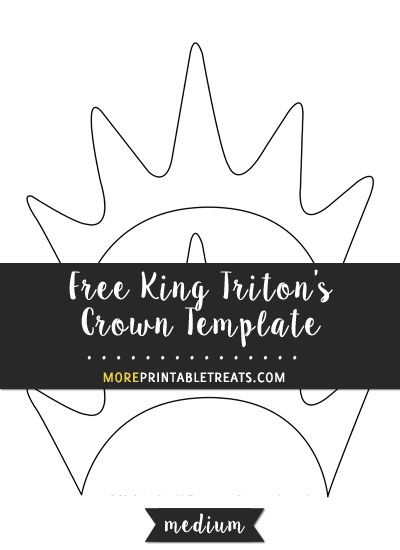 Free King Tritonu0027s Crown Template - Medium Size Halloween - crown template