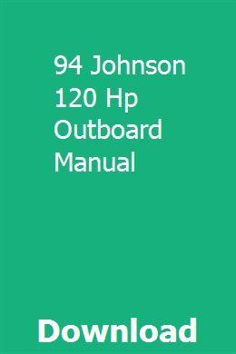 94 Johnson 120 Hp Outboard Manual Outboard Manual Johnson