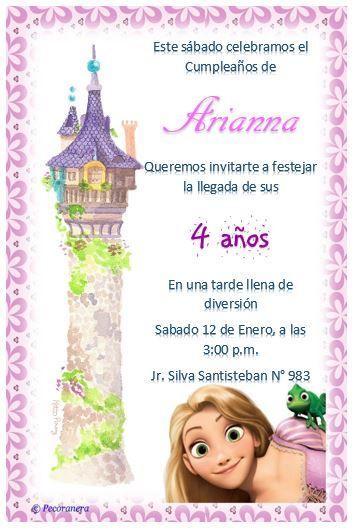 Tarjeta De Invitación Para Cumpleaños Invitaciones De