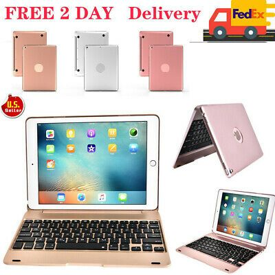Ad Folio Bluetooth Keyboard Case Stand Cover For Ipad 9 7 5th 6th Air 2 New In 2020 Ipad Keyboard Case Ipad Keyboard Bluetooth Keyboard Case