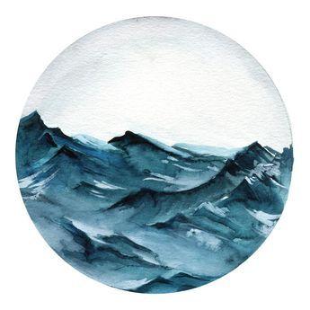 Ocean Waves Watercolor Landscape Tutorial Wave Art Painting
