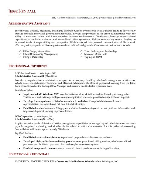 Administrative assistant resume sample is useful for you who are - admin assistant resume