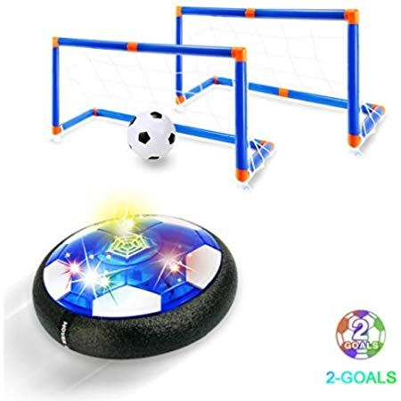 Amazon Com Upgrade Kids Soccer Ball Rechargeable Air Power Soccer Toy With 2 Goals Led Foam Bumper Indoor Outdoor Hover Kids Toys Foam Bumpers Toddler Toys