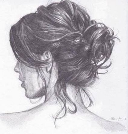 43 Trendy Ideas For Hair Bun Illustration Anime Art How To Draw Hair Hair Sketch Bun Hairstyles