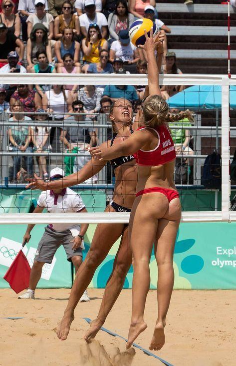 Russian women in thongs