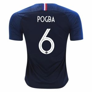 san francisco e520b ddbe0 2018 World Cup Jersey France Home Pogba Replica Navy Shirt ...