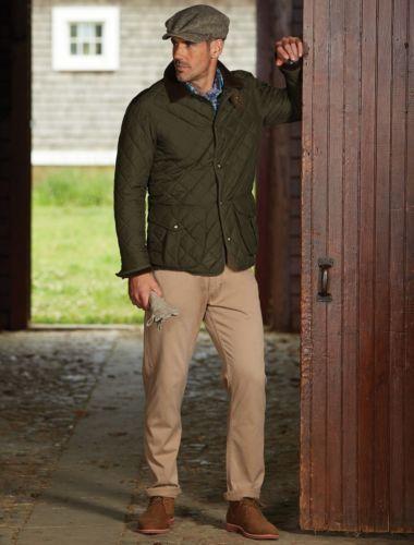 Polo Ralph Lauren Men Diamond Quilted Waterproof Barn Coat Jacket Hunting Olive Denim Jacket Men Black Denim Jacket Men Tall Men Clothing