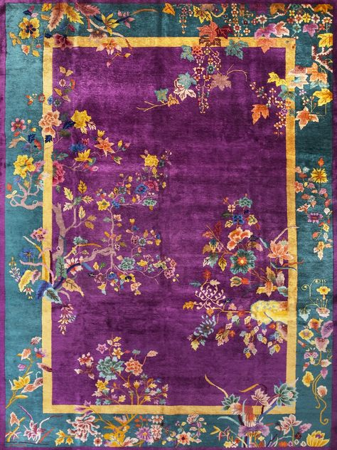 purple and peacock.. We have a persian rug,and its from Iran.Someone got it there before that country got all fucked up,and I would not go there if u paid me a zillion $$$..fuck that.. I need to get it cleaned cause staying in storage is a disgrace ..Its elegant..