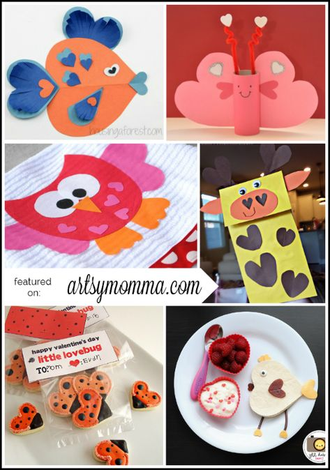 heart-shaped animal crafts