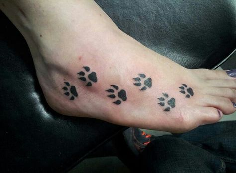 My foot tatto :) #puppypaws