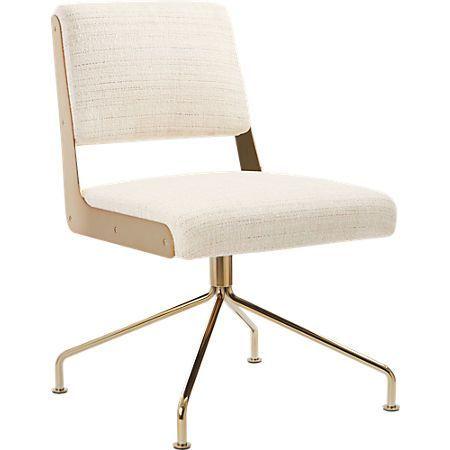 Rue Cambon Cream Office Chair Reviews Cb2 Leather Office Chair Cream Office Chair Office Furniture Modern