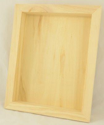 Wood Shadow Box 8 5 X 11 No Glass Wood Shadow Box Glass Shadow Box Large Shadow Box