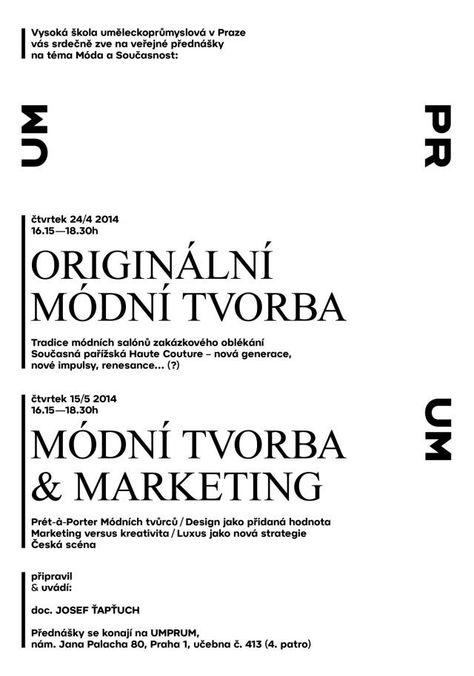 Cyklus přednášek MÓDA A SOUČASNOST - Vysoká škola uměleckoprůmyslová v Praze