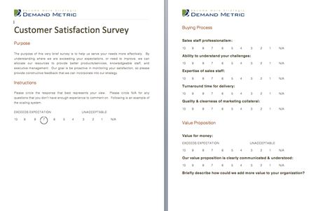 Customer Satisfaction Survey - A survey template to help you - customer survey template word