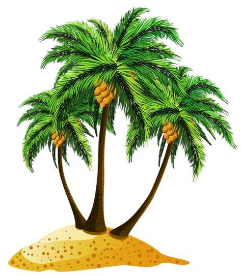 Transparent Beach Palms Decor Png Clipart Desenho De Coqueiro