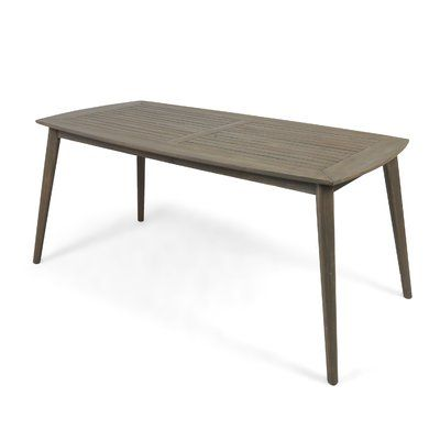 George Oliver Oxendine Solid Wood Dining Table In 2020 Dining Table Solid Wood Dining Table Rectangle Dining Table
