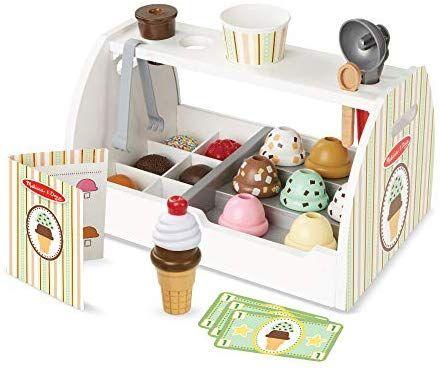 Melissa Doug Wooden Scoop And Serve Ice Cream Counter