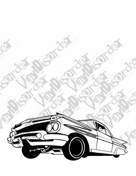 59 Impala Lowrider Decal