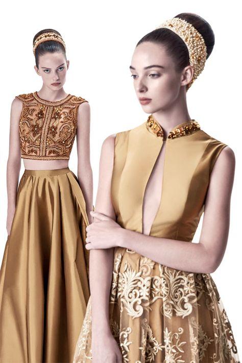 Ela se inspira no Renascimento e traz muito bordado de linha, algo que já virou uma tradição da Alfreda