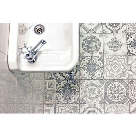 Aramean Matt Grey Tile 200 X 200mm Patterned Tiles