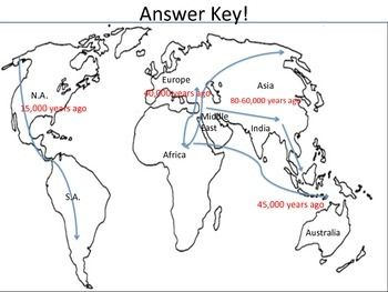 Early Human Migration - Map Activity | Social Studies ...