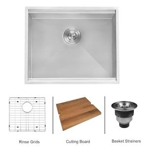 Ruvati 19 In X 23 In 1 Basin Brushed Stainless Steel Undermount