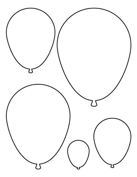 Balloons pattern Use the printable pattern for crafts, creating - circle template