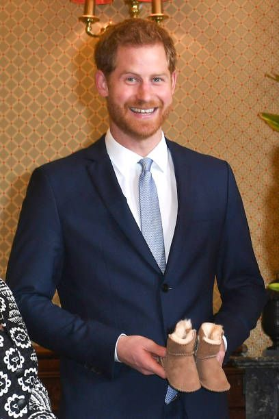 Prince Harry, Duke of Sussex is given a gift from Australia's ...