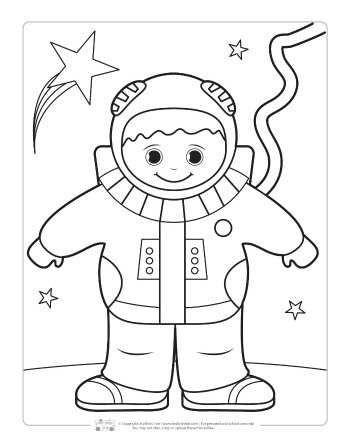 Astronot Boyama Sayfasi Konuya Git Https Www Madamteacher Com