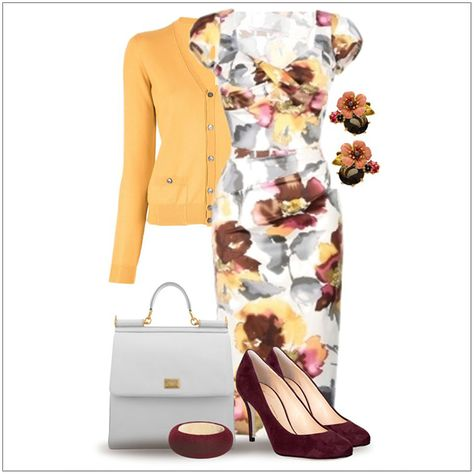 CHATA'S DAILY TIP: We are loving the floral print trend this season. This beautiful shift dress combines the florals in maroon, grey and summer gold which is fresh and vibrant for balmy summer days. To complete this look add maroon heels and bangle, a cool grey handbag and a gorgeous summer gold cardi. COPY CREDIT: Chata Romano Image Consultant, Karyn Lindes http://chataromano.com/consultant/karyn-lindes/ IMAGE CREDIT: Pinterest #chataromano #imageconsultant #colour #style #fashion